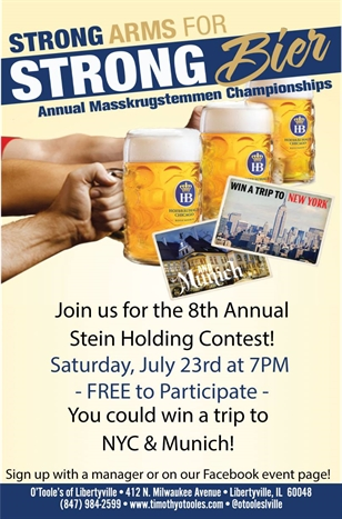 Stein Holding Contest! Win a Trip to NY & Munich!