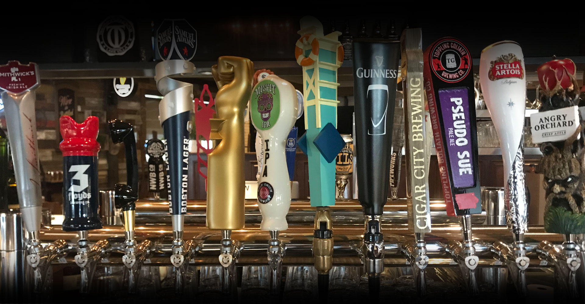 We've got a great mix of local, craft and domestic drafts!