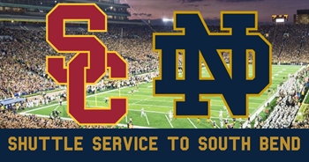 Shuttle Service to South Bend - USC vs. ND