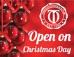 Open on Christmas Day!