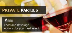 Private Party Menu